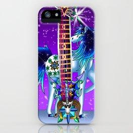 Fusion Keyblade Guitar #190 - Unicornus' Keyblade & Diamond Dust iPhone Case