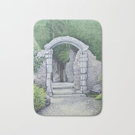 Garden Path Gate Bath Mat