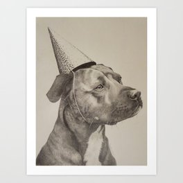 Peanut Party Hat Art Print