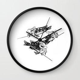 Three fish Musketeers Wall Clock