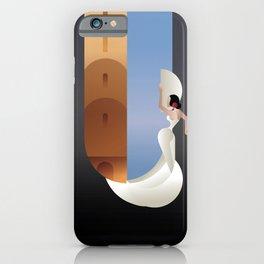 Art Deco styled Spain Flamenco dancer iPhone Case