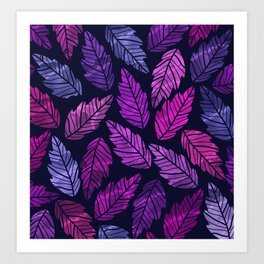 Colorful leaves III Art Print