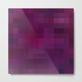 Re-Created Colored Squares No. 37 by Robert S. Lee Metal Print