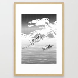 A Tale of Two Pilots Framed Art Print