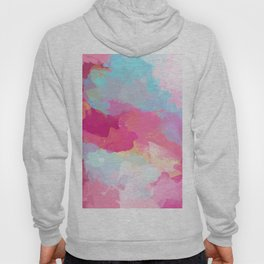 Colorful Abstract - pink and blue pattern Hoody