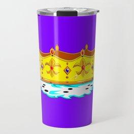 A Gold Crown with Ermine Fur Travel Mug