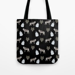 Wolves pattern  Tote Bag