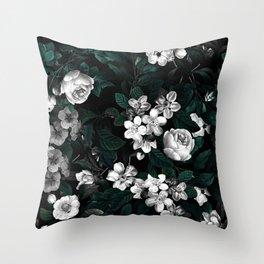 Botanical Night Throw Pillow