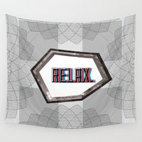 relax Wall Tapestries featuring Relax by Ryan McFarlin