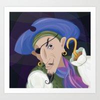captain hook Art Prints featuring Captain Hook by Chris Winn