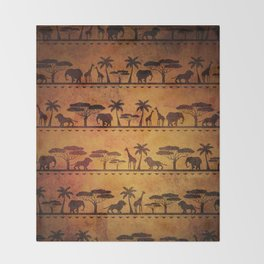 African Animal Pattern Throw Blanket