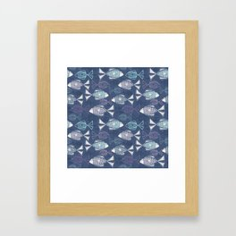Here, Fishy Fishy Framed Art Print