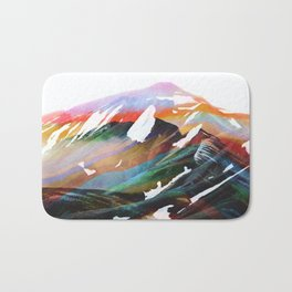 Abstract Mountains II Bath Mat