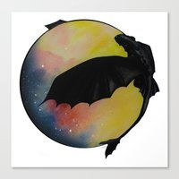 toothless Canvas Prints featuring Toothless by Emilee's Fine Art