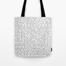 BW TRIANGLE PATTERN Tote Bag