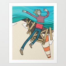 The Meandering of Leif Art Print
