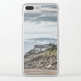 Homes Atop Cliffs At Gleneden Clear iPhone Case