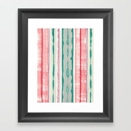 Canyon Stripe Framed Art Print
