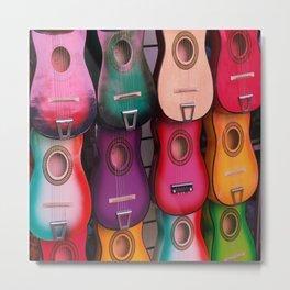 Colorful Guitars Metal Print
