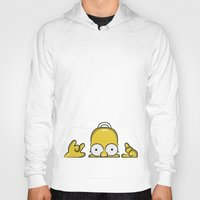 simpson Hoodies featuring Strange Homer Simpson by Yuliya L
