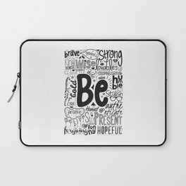 Lab No. 4 - Inspirational Positive Quotes Poster Laptop Sleeve