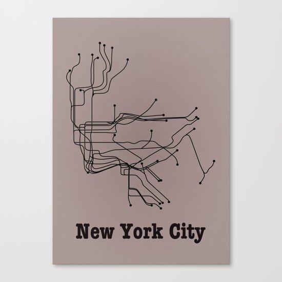 New York City Subway Canvas Print