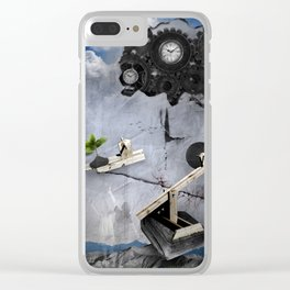 """""""ONLY TIME"""" Clear iPhone Case"""