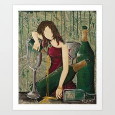 All I Can Taste Is Champagne Art Print