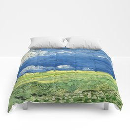 Wheatfield Under Thunderclouds by Vincent van Gogh (1890) Comforters