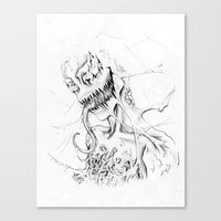 carnage Canvas Prints featuring Carnage by Angie Dilaj