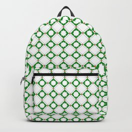 Green oriental pattern - seamless orient design Backpack