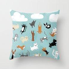 Raining Cats & Dogs Throw Pillow