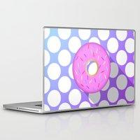 donut Laptop & iPad Skins featuring DONUT DONUT DOUGHNUT!! by anthonykun
