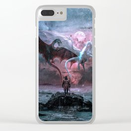 Dragon castaway Clear iPhone Case