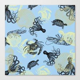 Vintage Sea Creatures Canvas Print