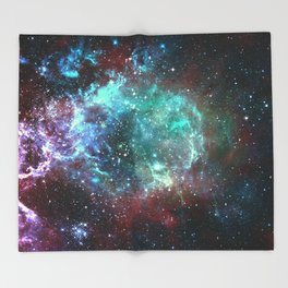 Star field in space Throw Blanket