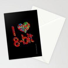 i heart 8-bit Stationery Cards