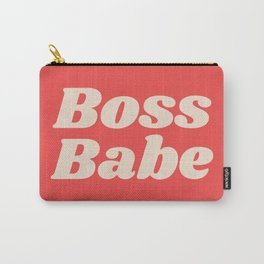Retro Boss Babe - Coral Carry-All Pouch