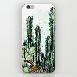 Cactus Long and a friend iPhone Skin