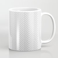 herringbone Mugs featuring Herringbone DIY by Project M