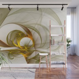 Fractal Art Precious Metals, Abstract Graphic Wall Mural