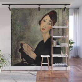 "Amedeo Modigliani ""Portrait of Dedie"" Wall Mural"