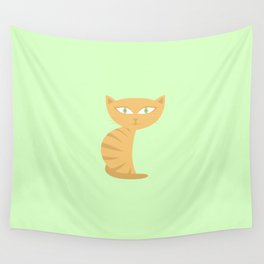 Mysterious Cat Wall Tapestry