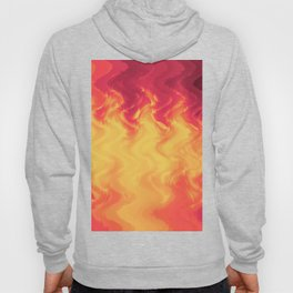 The volcano, abstract eruption and fire flames in hot colors Hoody