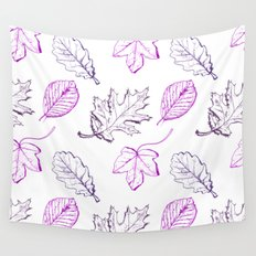 Leaves (purple) Wall Tapestry