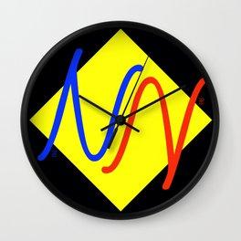 """NY""  Invertible design monogram Wall Clock"