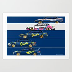 Colin McRae, The Subaru Years Art Print