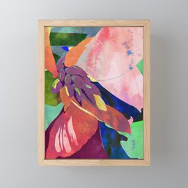 Peach Canna Lily Abstract Watercolor - Floral Art Print Framed Mini Art Print