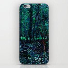 Vincent Van Gogh Trees & Underwood Teal Green iPhone Skin