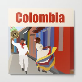 Colombian dance Metal Print